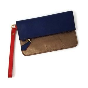 NWOT Alberta di Canio Colorblock Leather Wristlet